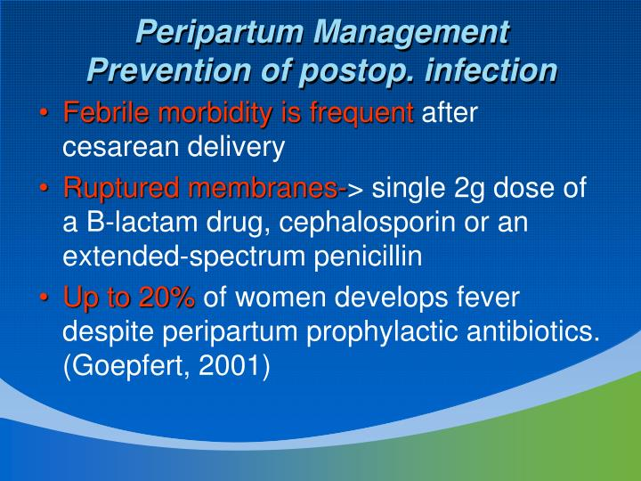 Peripartum Management
