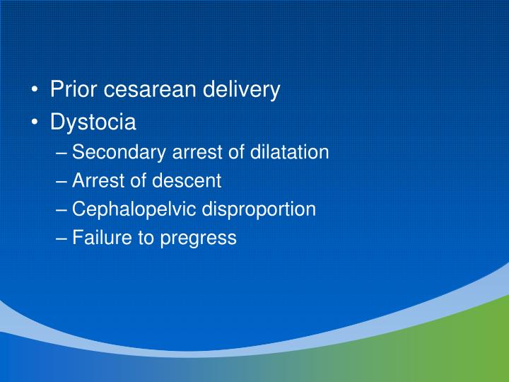 Prior cesarean delivery