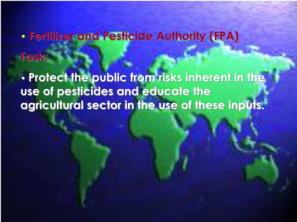 Fertilizer and Pesticide Authority (FPA)