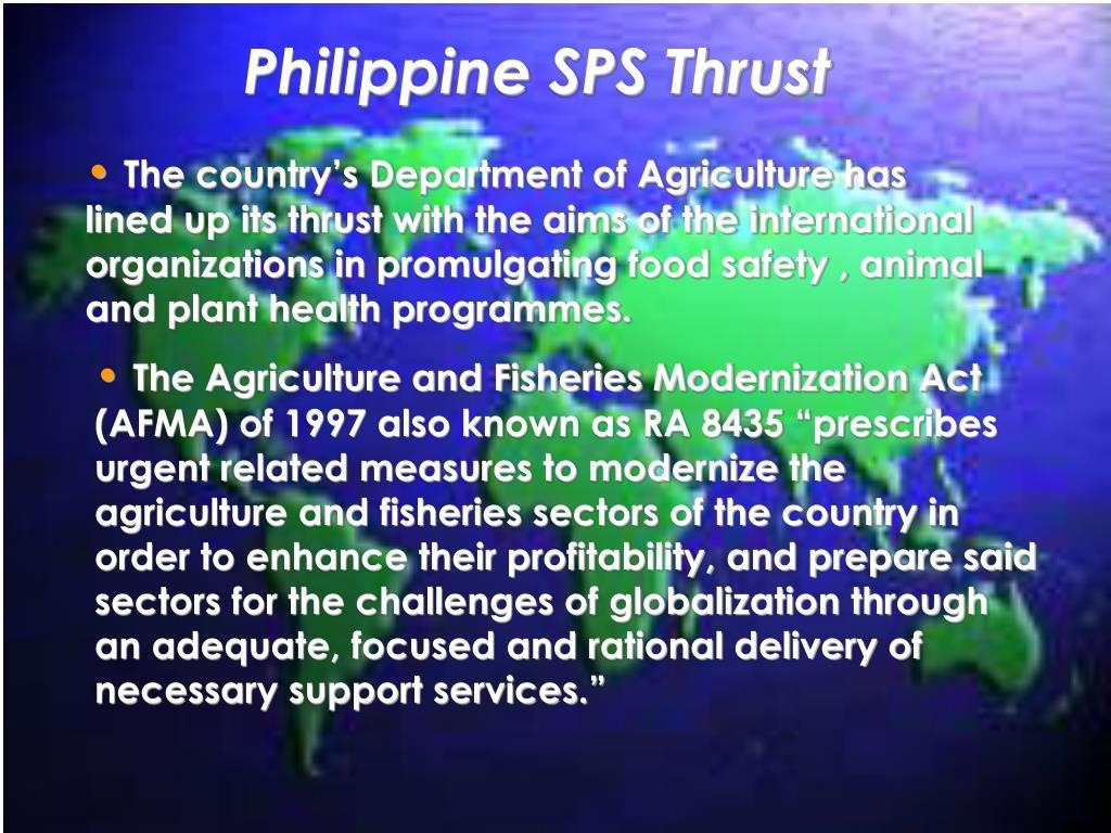 Philippine SPS Thrust