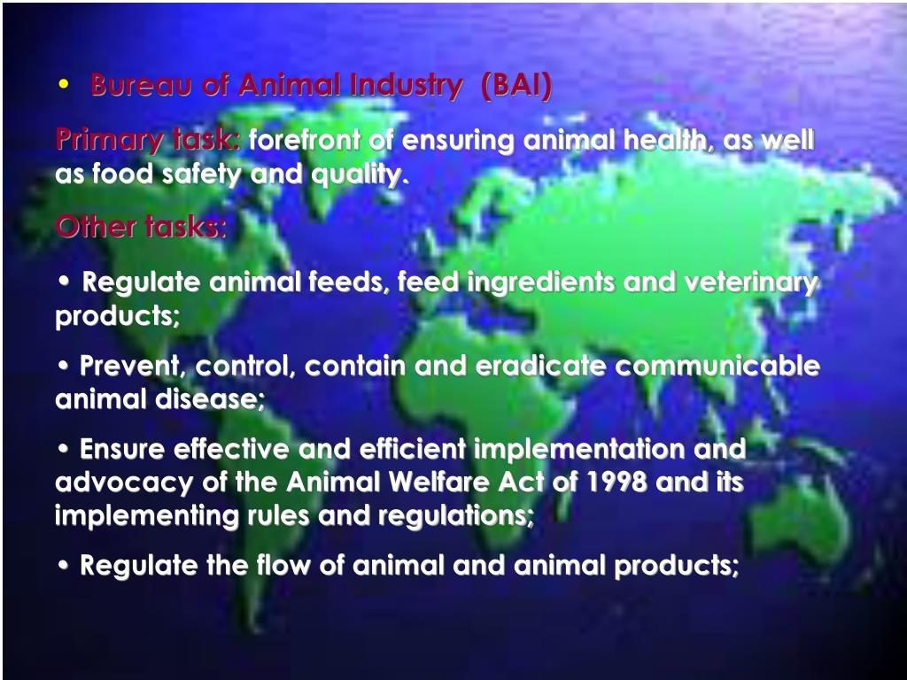 Bureau of Animal Industry  (BAI)
