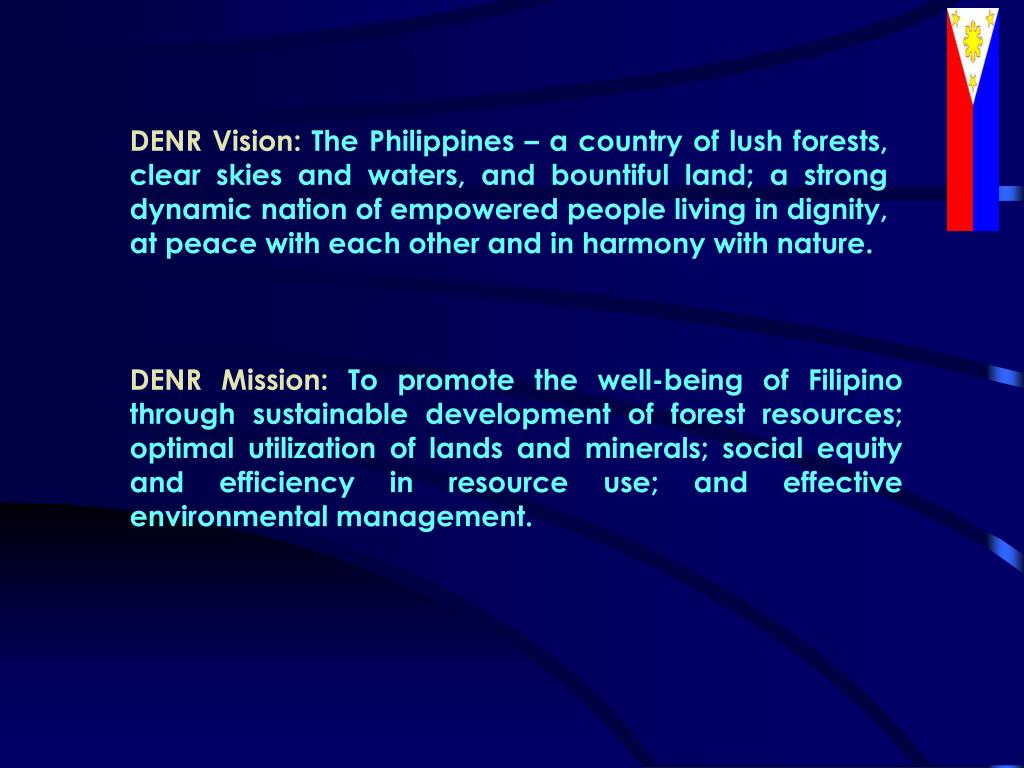 DENR Vision: