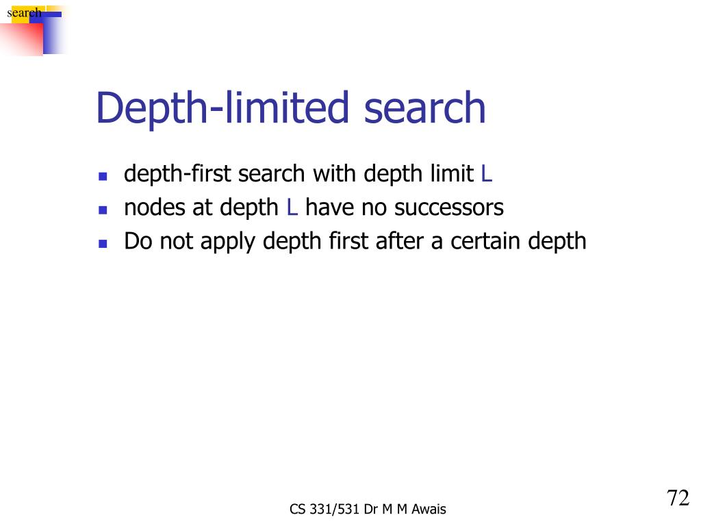 Depth-limited search