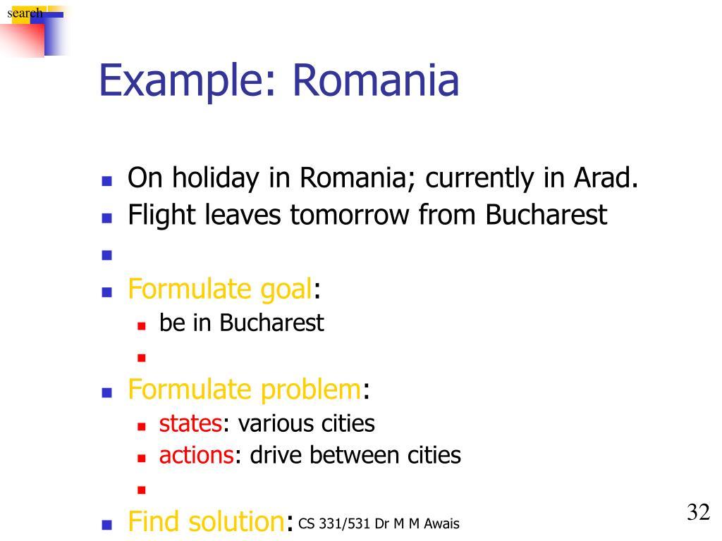 Example: Romania