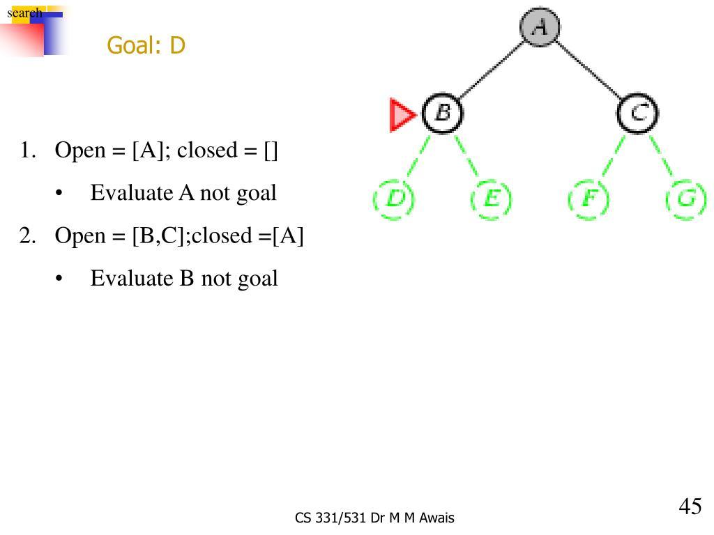 Goal: D