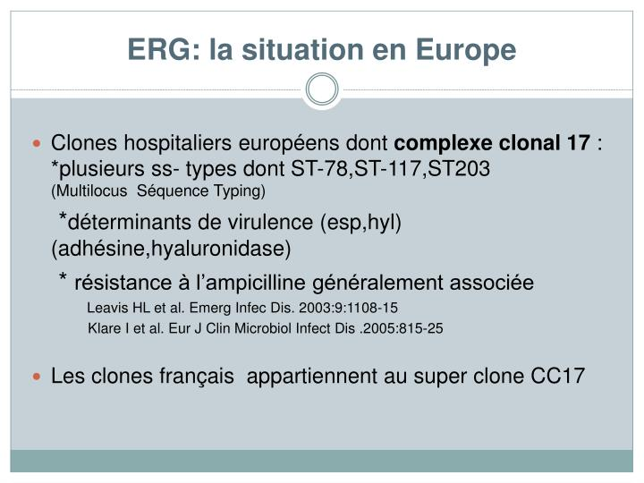 ERG: la situation en Europe