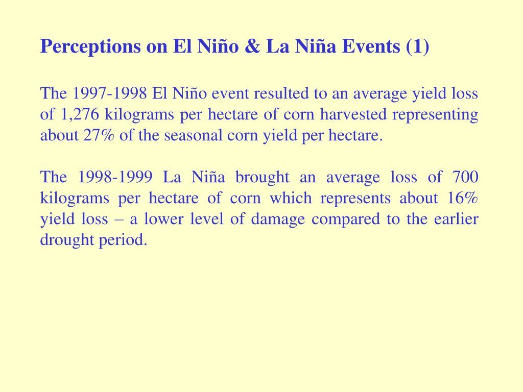 Perceptions on El Niño & La Niña Events (1)