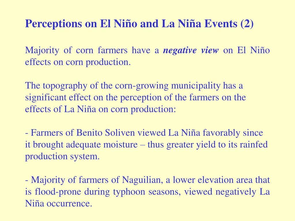 Perceptions on El Niño and La Niña Events (2)