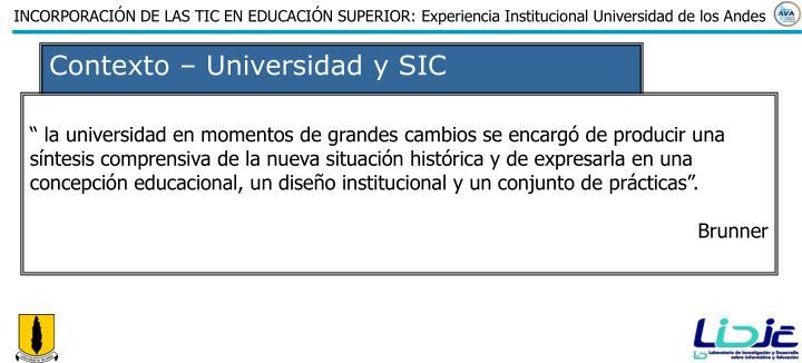 Contexto – Universidad y SIC