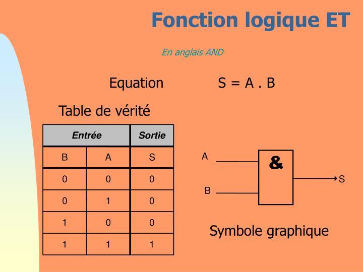 Fonction logique ET