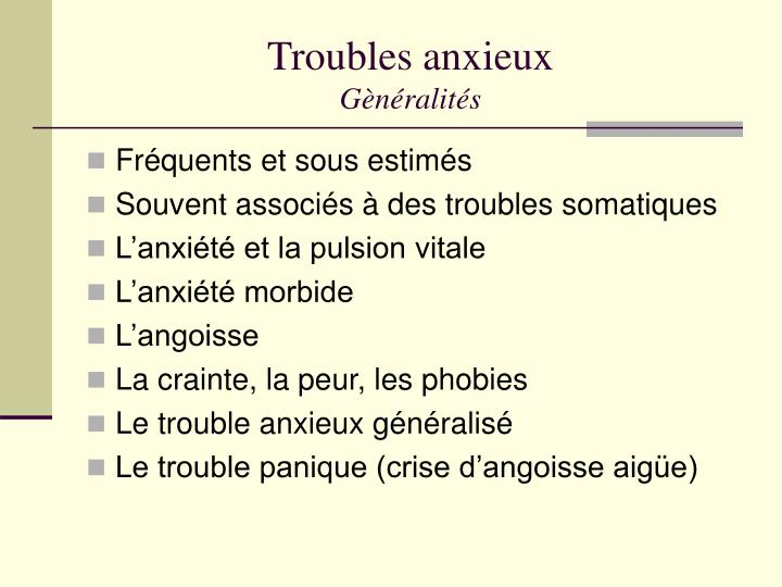 Troubles anxieux