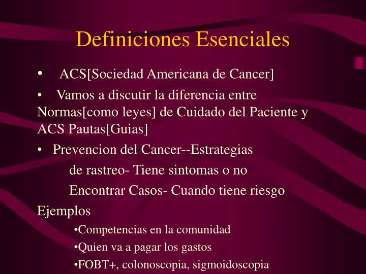 Definiciones Esenciales