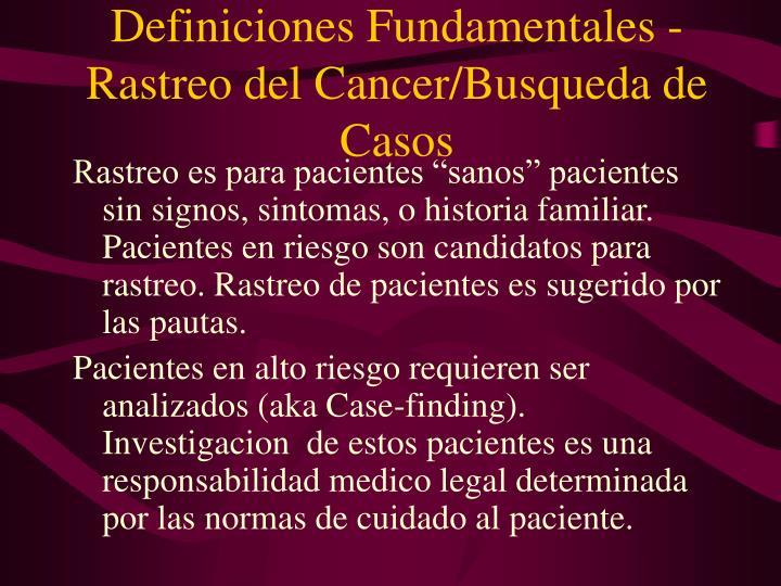 Definiciones Fundamentales -