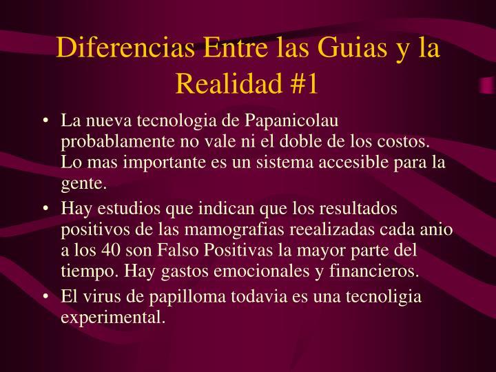 Diferencias Entre las Guias y la Realidad #1
