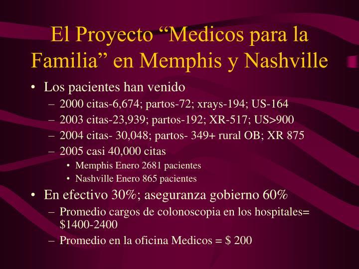 """El Proyecto """"Medicos para la Familia"""" en Memphis y Nashville"""