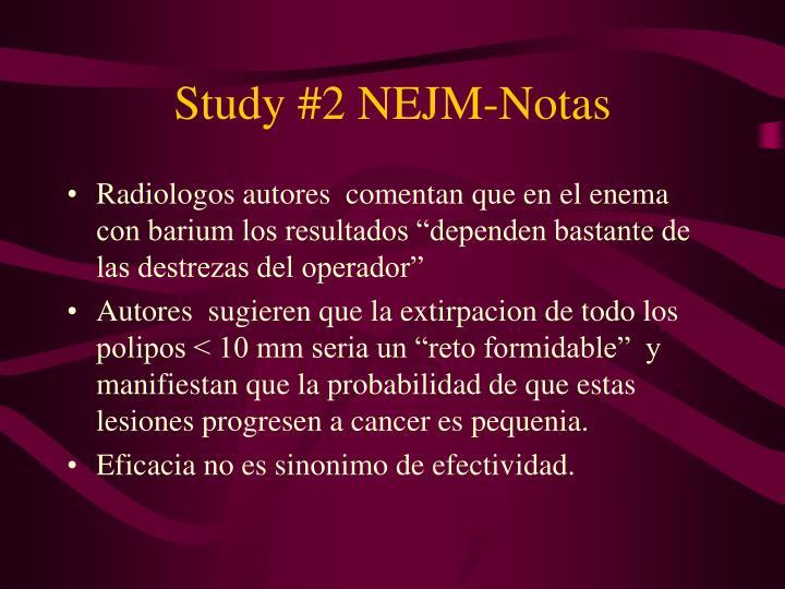 Study #2 NEJM-Notas