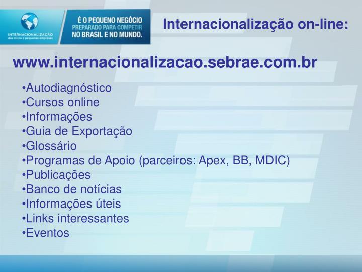 Internacionalização on-line: