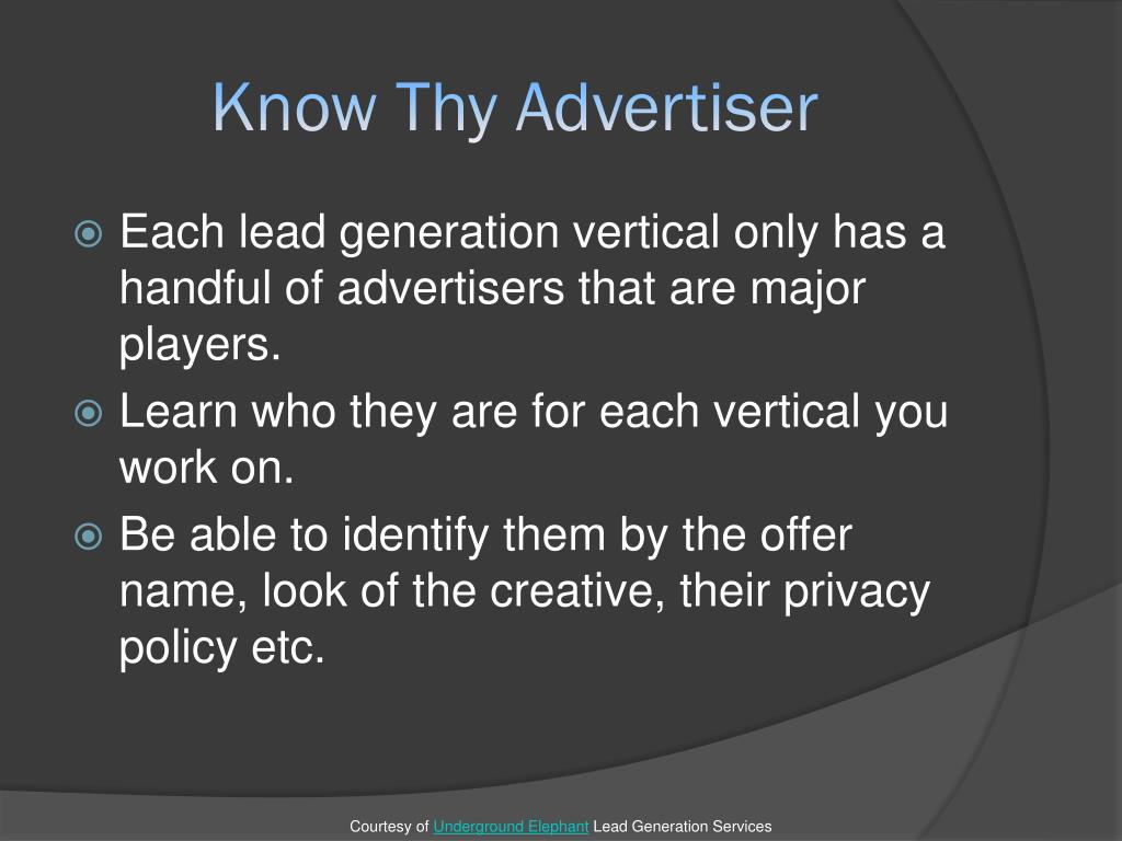 Know Thy Advertiser