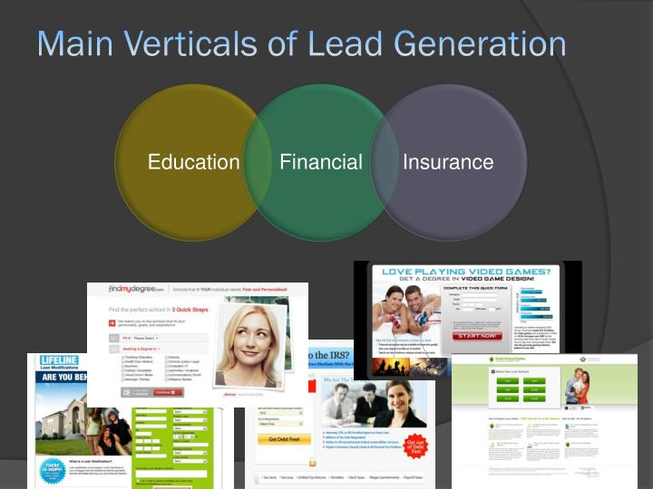Main verticals of lead generation