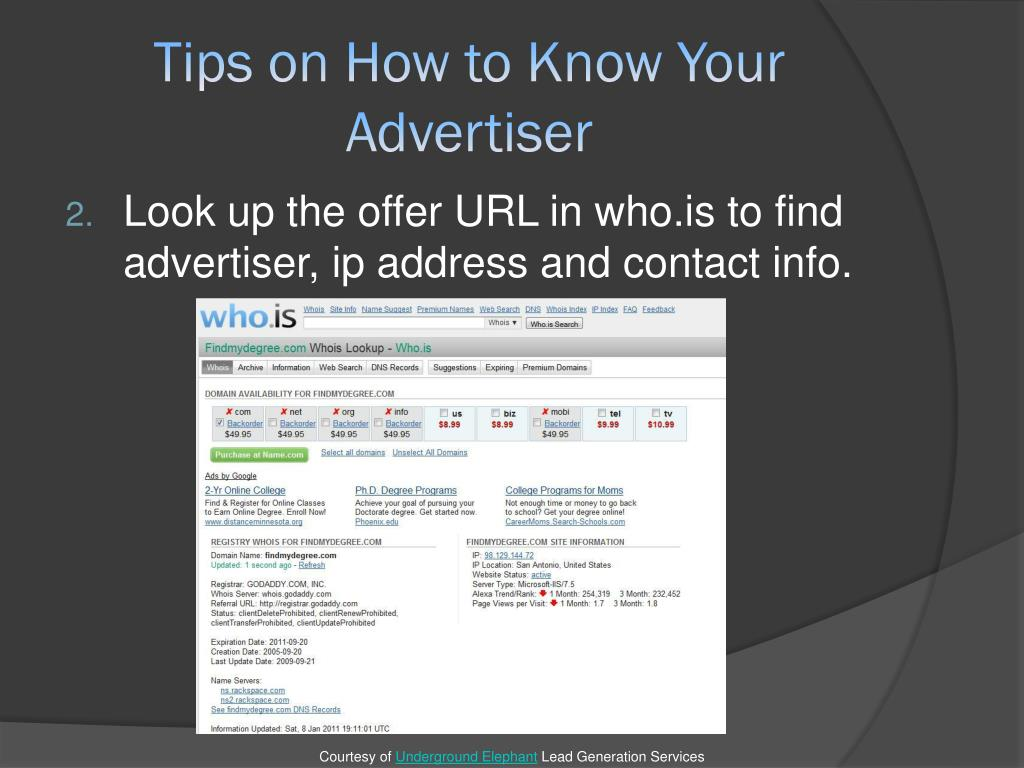 Tips on How to Know Your Advertiser