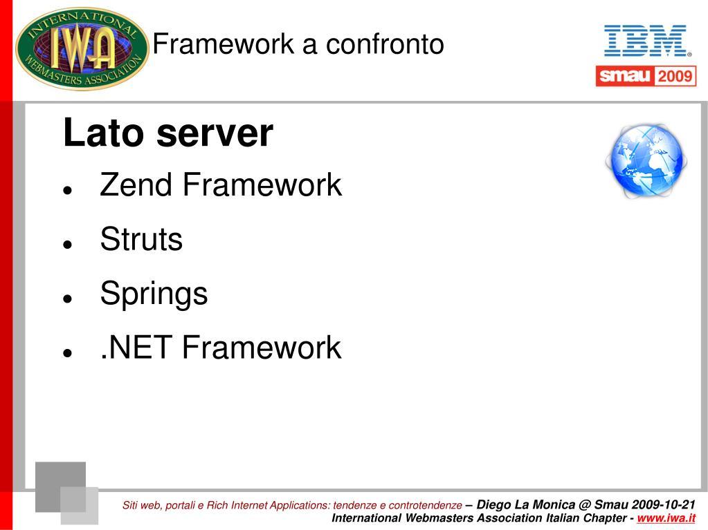 Framework a confronto