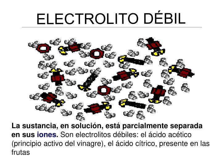 ELECTROLITO DÉBIL