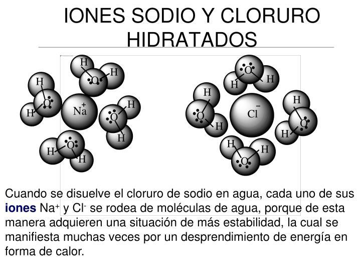 IONES SODIO Y CLORURO HIDRATADOS