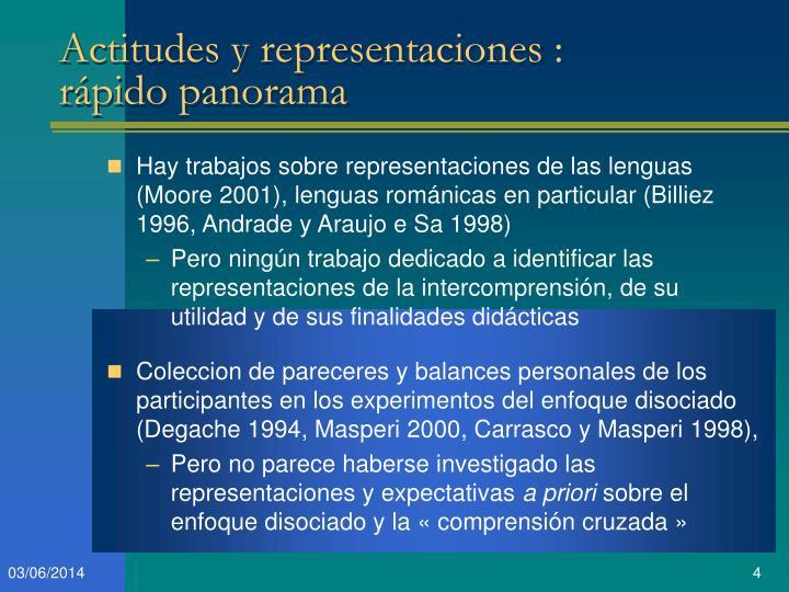 Actitudes y representaciones :