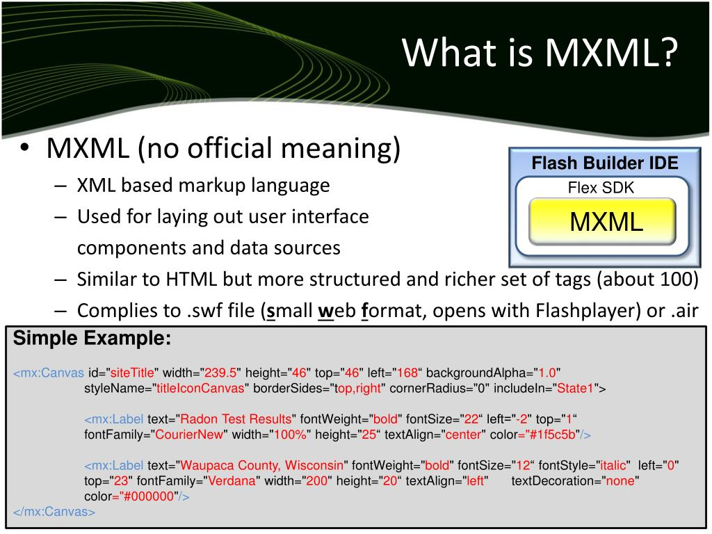 What is MXML?