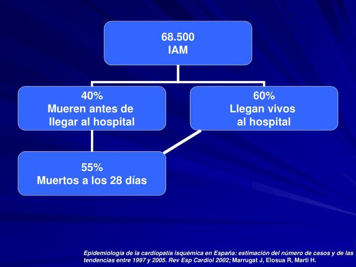 Epidemiología de la cardiopatía isquémica en España: estimación del número de casos y de las tendencias entre 1997 y 2005. Rev Esp Cardiol 2002;