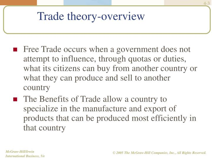 Trade theory overview