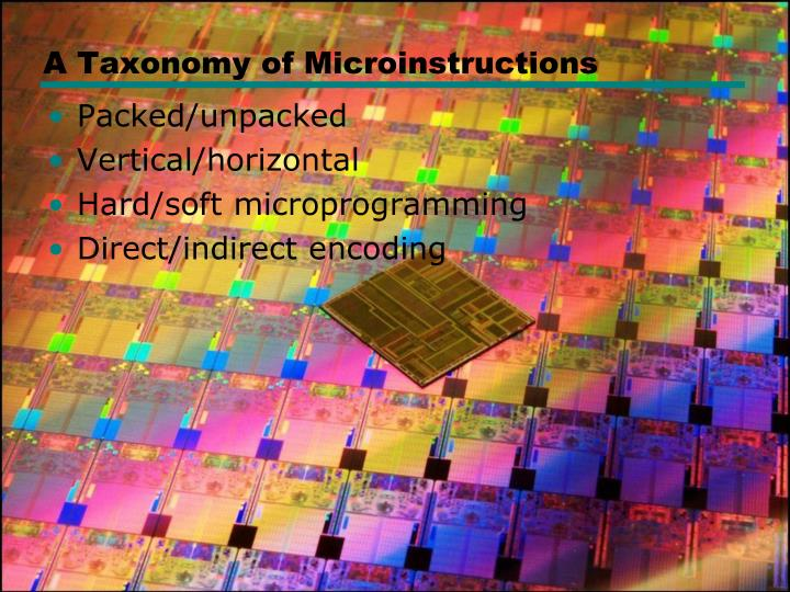 A Taxonomy of Microinstructions