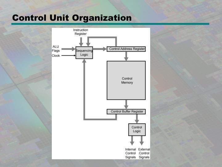Control Unit Organization