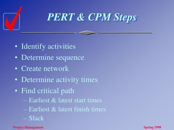 PERT & CPM Steps