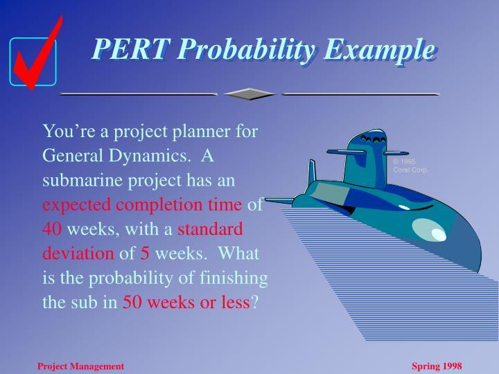 PERT Probability Example