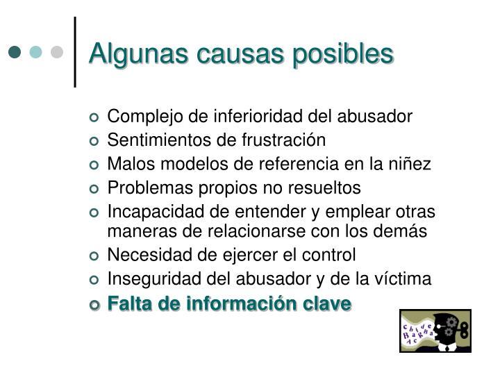 Algunas causas posibles