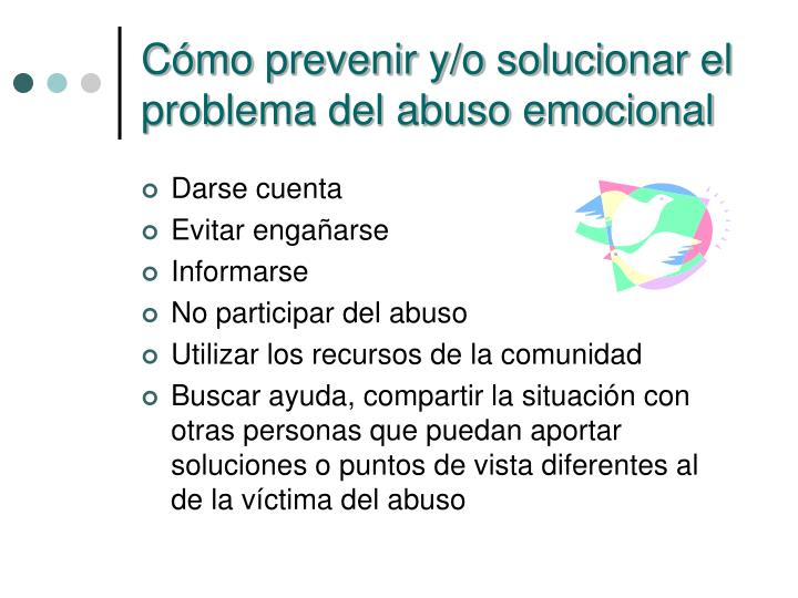 Cómo prevenir y/o solucionar el problema del abuso emocional