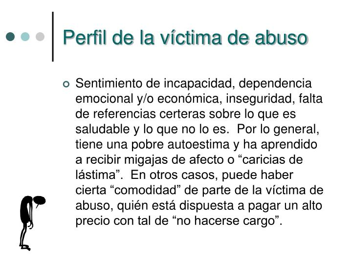 Perfil de la víctima de abuso