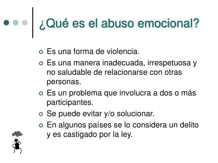 ¿Qué es el abuso emocional?