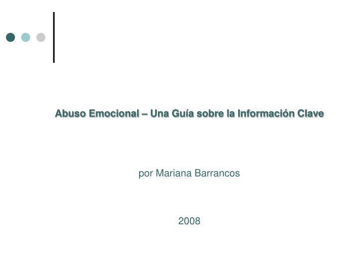 Abuso Emocional – Una Guía sobre la Información Clave