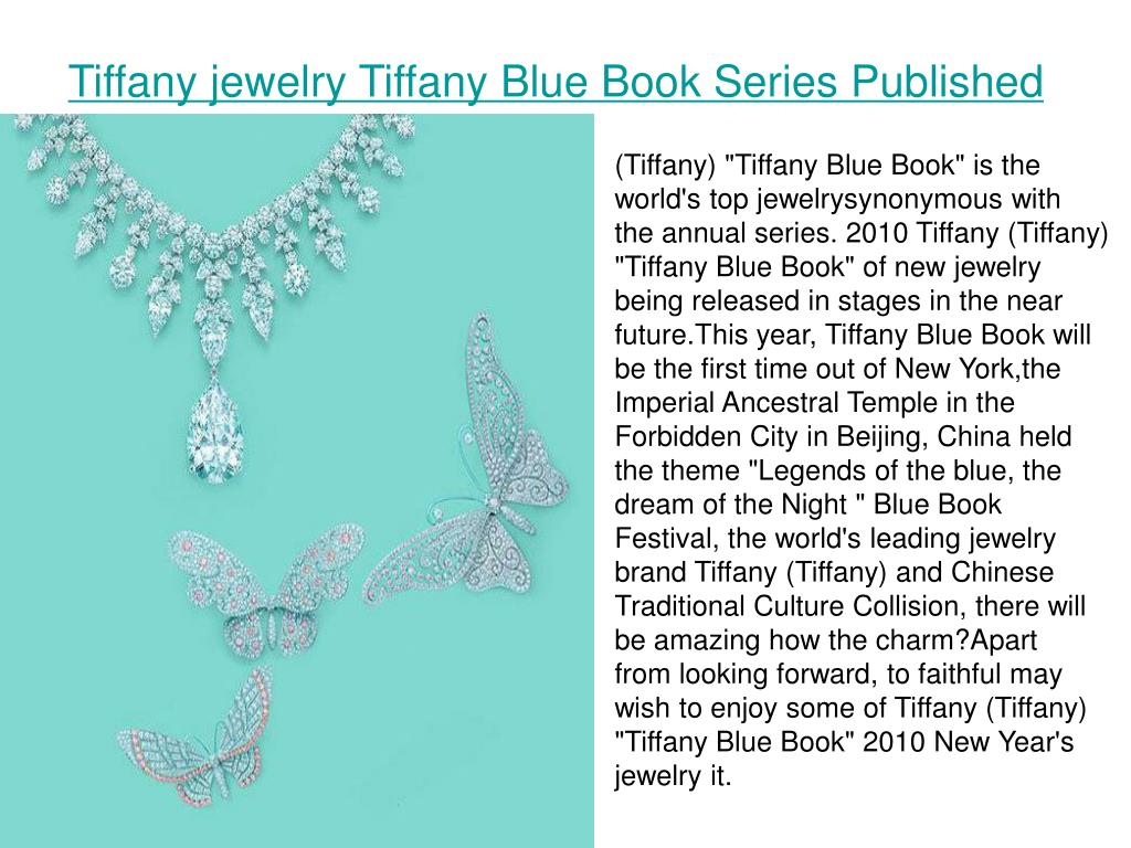 Tiffany jewelry Tiffany Blue Book Series Published