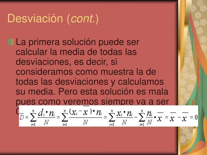 Desviación (