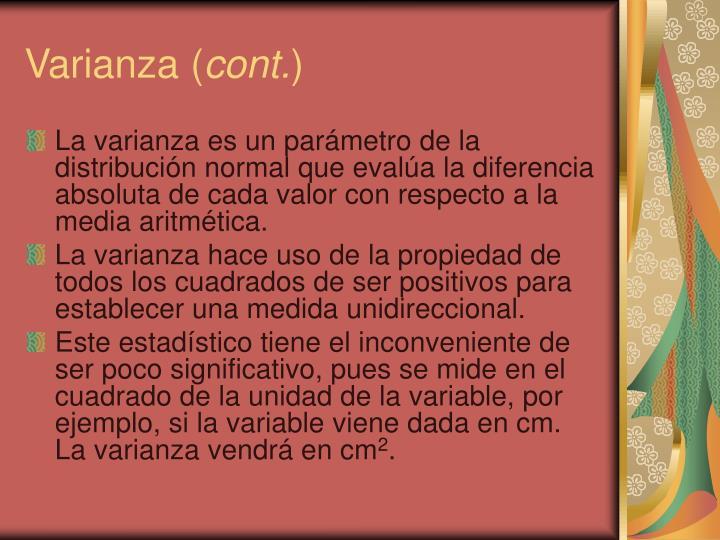 Varianza (