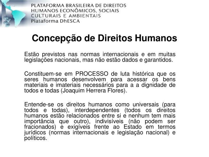 Concepção de Direitos Humanos
