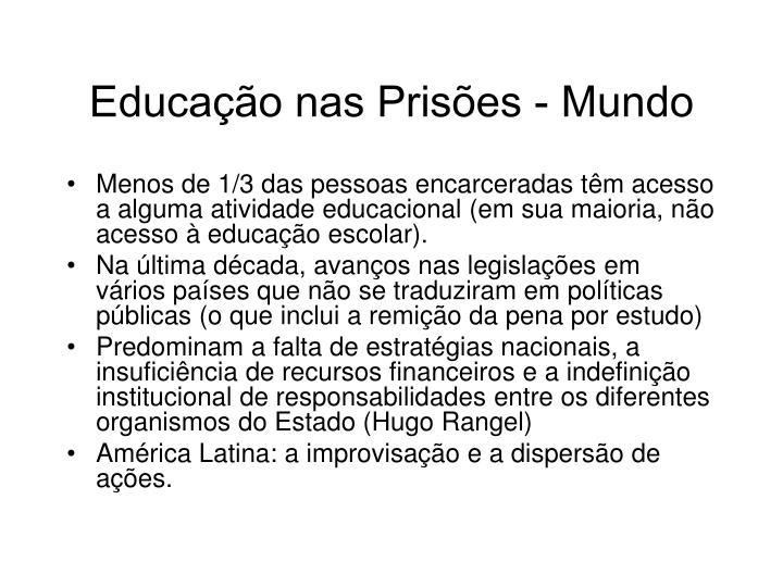 Educação nas Prisões - Mundo