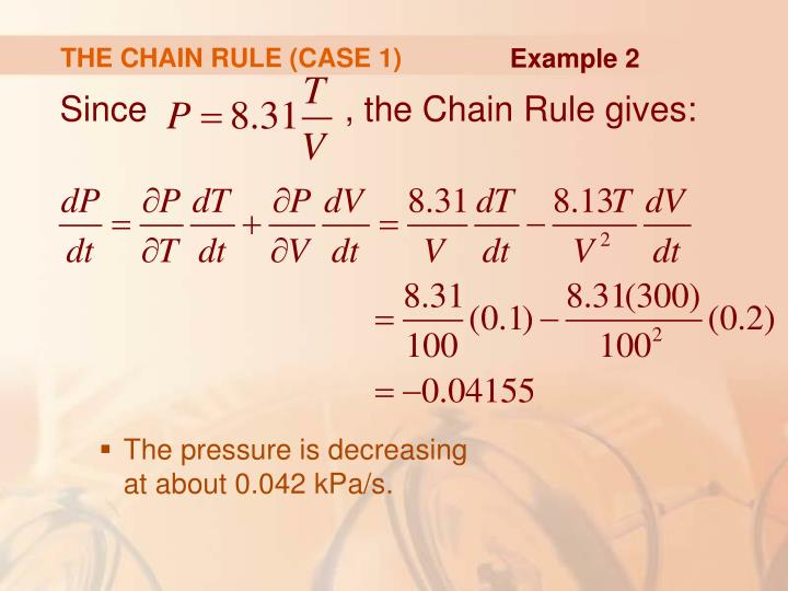 THE CHAIN RULE (CASE 1)