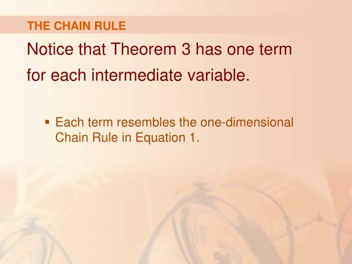THE CHAIN RULE