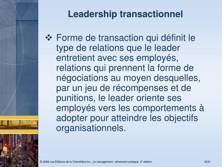 Leadership transactionnel