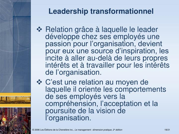 Leadership transformationnel