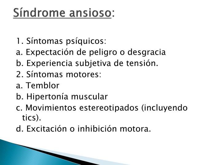 Síndrome ansioso
